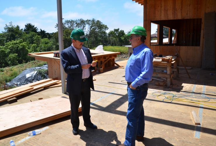 Ross Welch, ED at AEDC talking with Jim Bella, CFO at Open Door